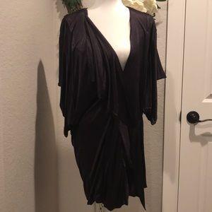 BCBGMAXAZRIA Runway collection deep purple dress